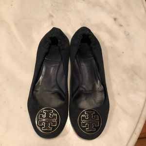 Navy Suede Tory Burch Flats - Size 7.5